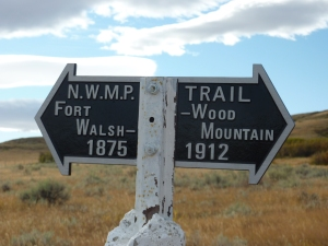 Everett Baker, the first President of the Saskatchewan History and Folklore Society (SHFS), placed historic markers on the Trail in the 1950s and '60s and the Society continues to maintain the Trail markers today.