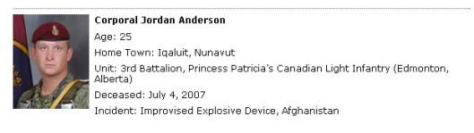 Fallen Canadians
