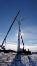 Raising the wind Turbine