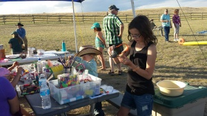 Crafting at Grasslands National Park's Sleep Under the Stars Party